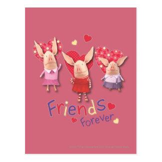 Carte Postale Olivia - amies pour toujours
