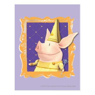 Carte Postale Olivia - dans le cadre jaune