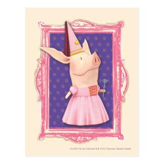 Carte Postale Olivia dans le cadre rose