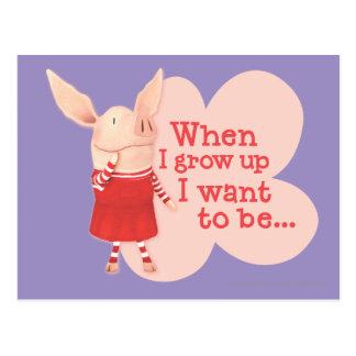 Carte Postale Olivia - quand je grandis