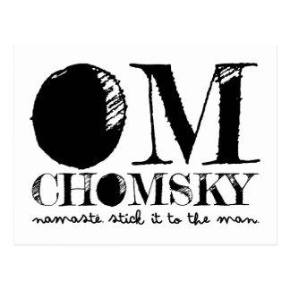 Carte Postale OM Chomsky