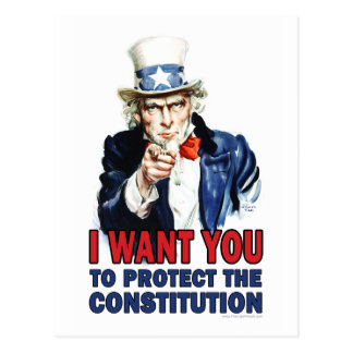 Carte Postale Oncle Sam : Je veux que vous protégiez la