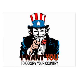 Carte Postale Oncle V Occupy Wall Street