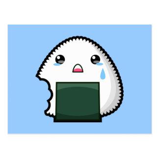 Carte Postale Onigiri triste