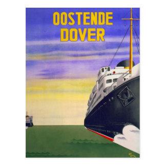 Carte Postale Oostende vintage Douvres