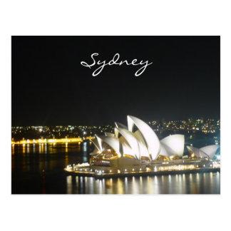 Carte Postale opéra de nuit de Sydney