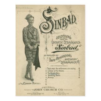 Carte Postale Opéra vintage Sinbad