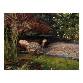 Carte Postale Ophélie par John Everett Millais
