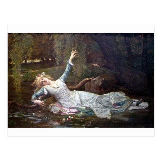 Carte Postale Ophélie, se noyant