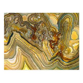 Carte Postale Opus fol 01 d'agate de dentelle d'imaginaire