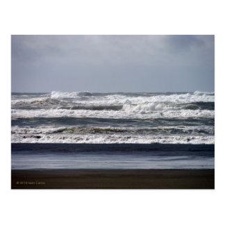 Carte postale orageuse de mers