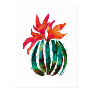 Carte Postale Orange d'art de cactus
