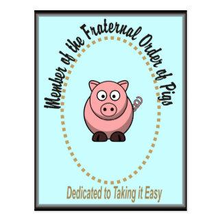 Carte Postale Ordre fraternel de porcs