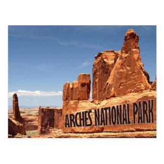 Carte postale orientale de l'Utah de parc national