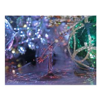 Carte postale orientée de baisse de l'eau de Noël