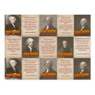 Carte postale originale de libertaires
