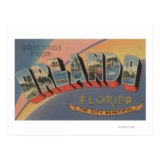 Carte Postale Orlando, la Floride - grandes scènes 2 de lettre