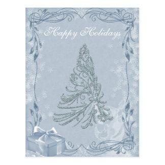 Carte postale ornée de bijoux d'arbre de Noël
