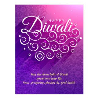 Carte Postale Ornement flourishing pourpre rougeoyant Diwali