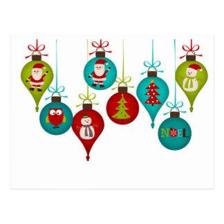 Carte Postale Ornements de Noël