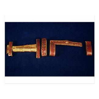Carte Postale Ornements d'épée du trésor de Childeric I (