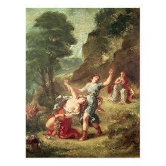 Carte Postale Orphée et Eurydice, ressort