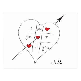 Carte Postale Orteil d'amour de Tic Tac