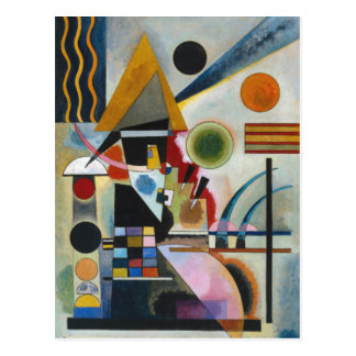 Carte Postale Oscillation abstraite de la peinture de Kandinsky