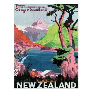 Carte Postale Otago vintage Nouvelle Zélande