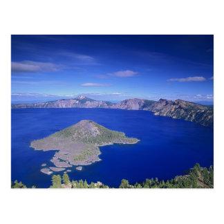 Carte Postale OU, lac NP crater, île de magicien et cratère