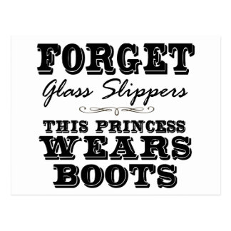 Carte Postale Oubliez les pantoufles en verre, cette princesse