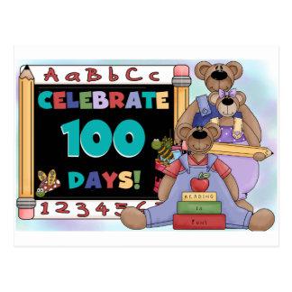 Carte Postale Ours 100 jours d'école