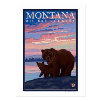 Carte Postale Ours de MontanaMomma et voyage vintage de CUB
