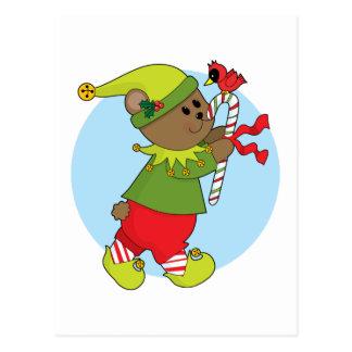 Carte Postale Ours de Noël