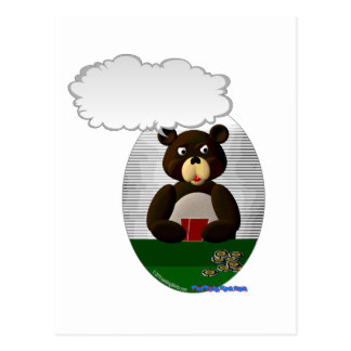 Carte Postale Ours de nounours parlant de tisonnier