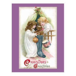 Carte Postale Ours de nounours trouvé dans Noël de cru de bas