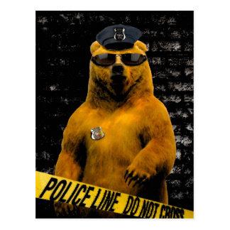 Carte Postale Ours de policier !