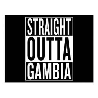 Carte Postale outta droit Gambie