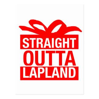 Carte Postale Outta droit Laponie