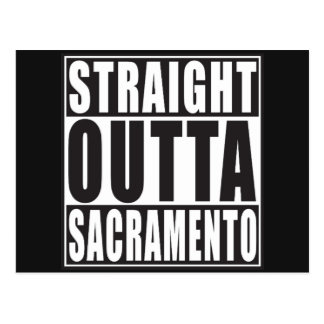 Carte Postale Outta droit Sacramento la Californie
