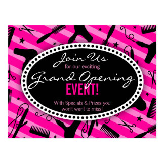 Carte Postale Ouverture officielle de salon de coiffure de roses