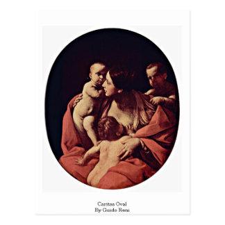 Carte Postale Ovale de Caritas par Guido Reni