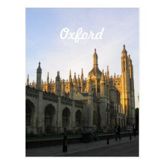 Carte Postale Oxford