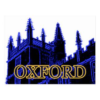 Carte Postale Oxford Angleterre 1986 spirales de construction
