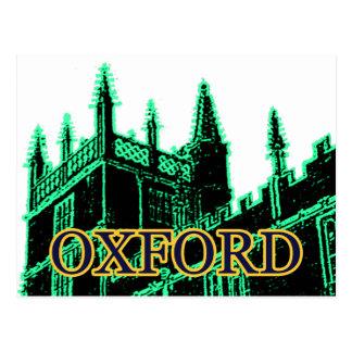 Carte Postale Oxford Angleterre 1986 verts de construction de