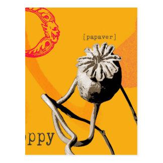 Carte Postale P est pour le pavot