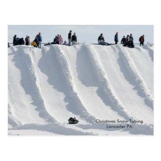 Carte Postale PA de Lancaster de tuyauterie de neige de Noël