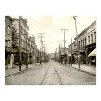 Carte Postale PA principale de St Nanticoke. 1906