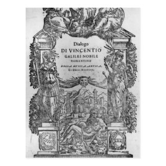 Carte Postale page de 'Della Musica Antica et de della Moderna
