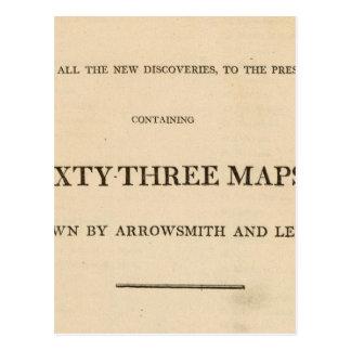Carte Postale Page titre nouvelle, atlas général élégant